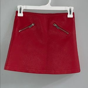 Forever 21 Girls Faux Red Leather Skirt